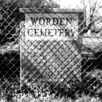 The entrance to the Worden Cemetery in Worden, Washtenaw Co., MI