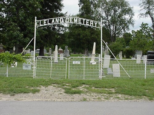 Picture of the Leland Cemetery entrance