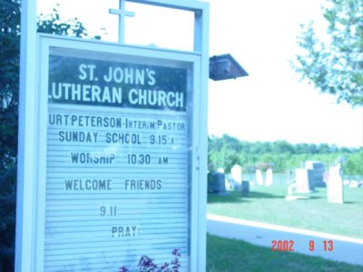 St John's Lutheran Church sign